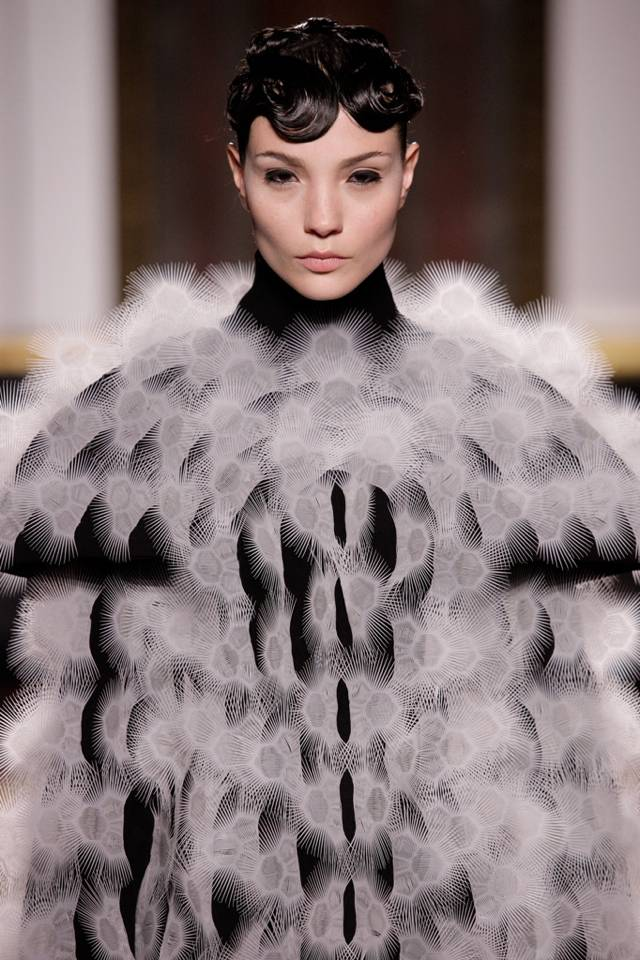 The Dutch designer's Spring Summer 2013 collection showcased at Paris Fashion Week revealed her modern view on Haute Couture, combining fine handwork techniques with futuristic digital technology