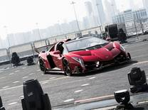 Priced at £2.8 million / US$4.78 million before tax, the V12 Veneno displaces the Bugatti Veyron and is limited to an exclusive production run of nine units
