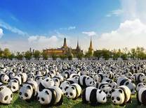 1,600 paper-mache panda sculptures by French artist Paulo Grangeon will make their conservation statement in Bangkok for the first time come this March