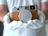 Created in tribute to the former president of Hermès who passed away in May 2010, the camera is third in a line of premium special editions of the Leica M-System to be created in collaboration with the renowned Parisian house