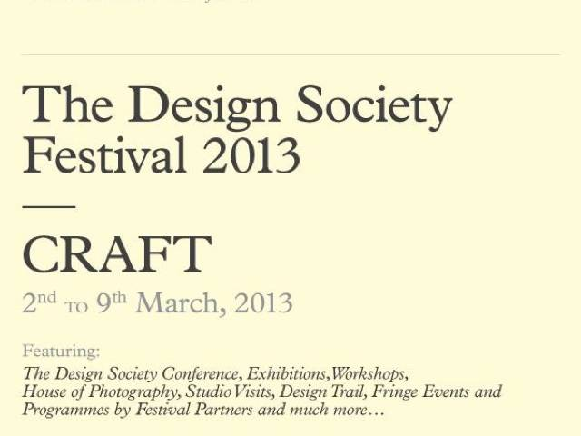 The Design Society comes back with a design festival comprising various components: a conference to kick off the event, a design trail, exhibitions, workshops, film festival and other fringe events