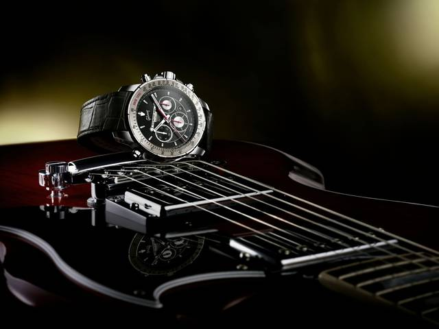 The special edition timepiece features four key design features from the self-tuning musical instrument  and reinvents them on its dial