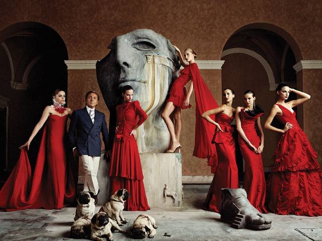 The Valentino Garavani Virtual Museum, a downloadable desktop application, offers a virtual tour through the highlights of the designer's career