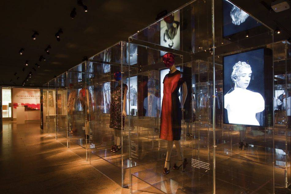An exhibition which explores the striking affinities between Elsa Schiaparelli and Miuccia Prada – two Italian designers from different eras