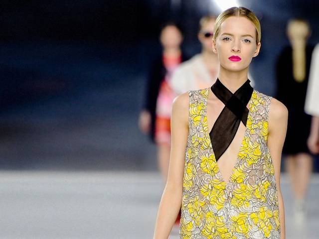 Raf Simons' debut Cruise collection in Monaco revealed a Dior Cruise collection featuring sheer lace, metallic textures and an effervescent je-ne-sais-quoi about the designs