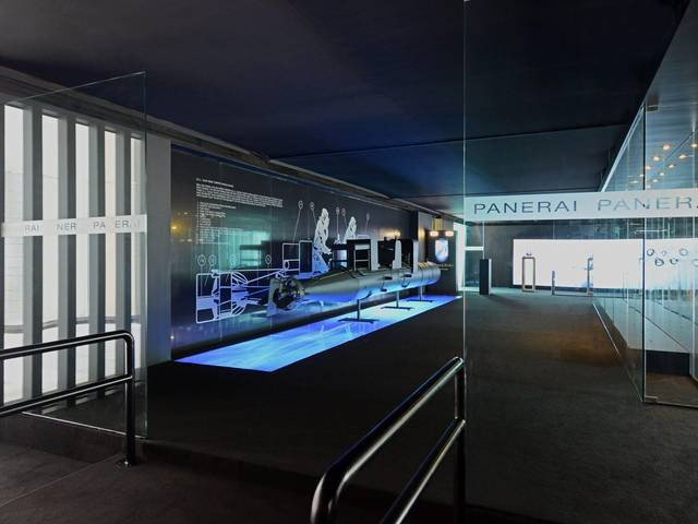 The Florentine luxury watchmaker will showcase the origins of the design of Panerai with a display that unfolds around a full-size prototype of a human torpedo