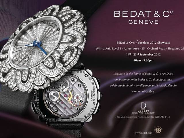 BEDAT & Co will be exhibiting their signature collections and Novelties 2012 collection inspired by the Art Deco movement
