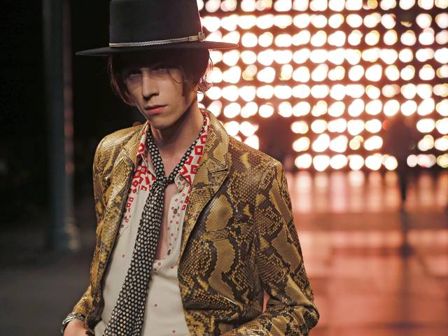Hedi Slimane goes psychedelic for the cowboy-inspired look, suitable for a fashionable trip out into the Mexican desert