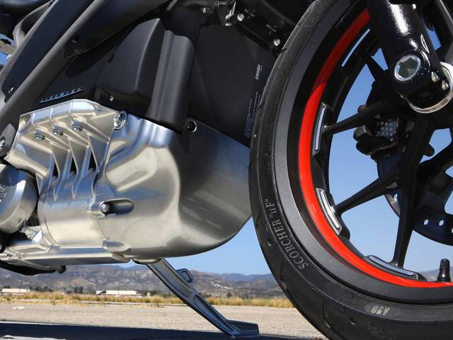 With an hour charge producing a 130 mile range, the prototype American motorbike can go from 0 to 60 in four seconds, and comes replete with the roar of a jet plane