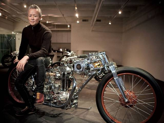 Chicara takes a vintage engine which he beautifully finishes and blends with up to 500 components he manufactures himself