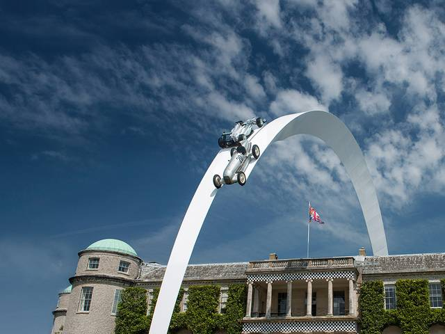 The 160-tonne steel sculpture celebrates the 80th anniversary of the birth of the brand's trademark silver colour