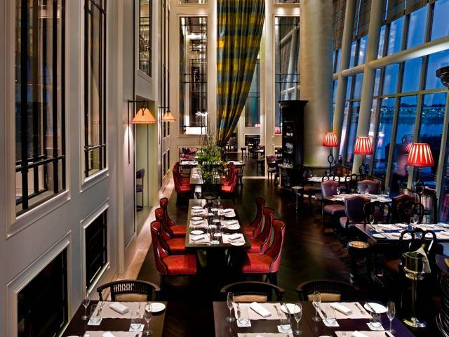 Clifford is a chic brasserie is illuminated by splendid 10-metre high floor-to-ceiling windows
