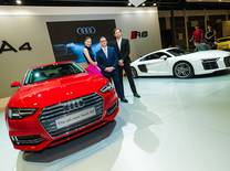 An impressive booth display showcasing 14 models from its lineup as well as as launching the all-new Audi A4 and previewing the new Audi R8
