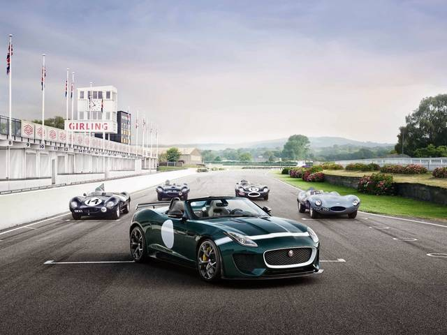 The model pays tribute to the three-time Le Mans winning D-type and is the fastest and most powerful production Jaguar ever built