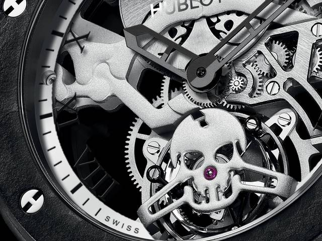The addition to the Swiss manufacture's skull series is a new skeleton tourbillon movement that is far from conventional