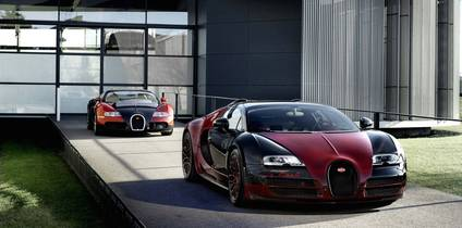 Following a 10-year run, the final and 450th production unit of the Bugatti Veyron makes its appearance at the 2015 Geneva Motor Show