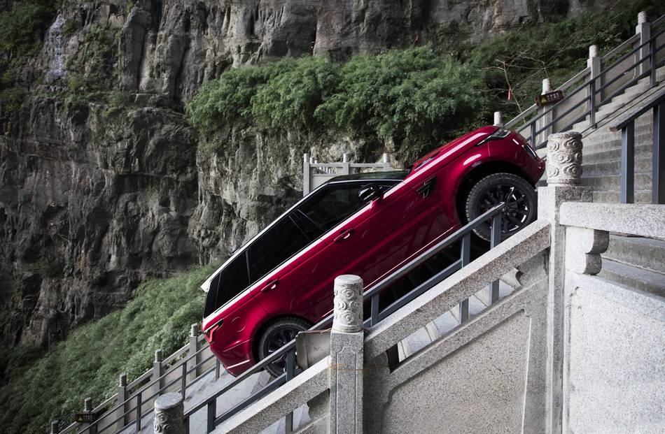 New hybrid Range Rover drives up 'Heaven's Gate' in incredible video