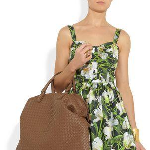 c127f225fc18 Bottega Veneta Intrecciato Convertible Leather Handbag
