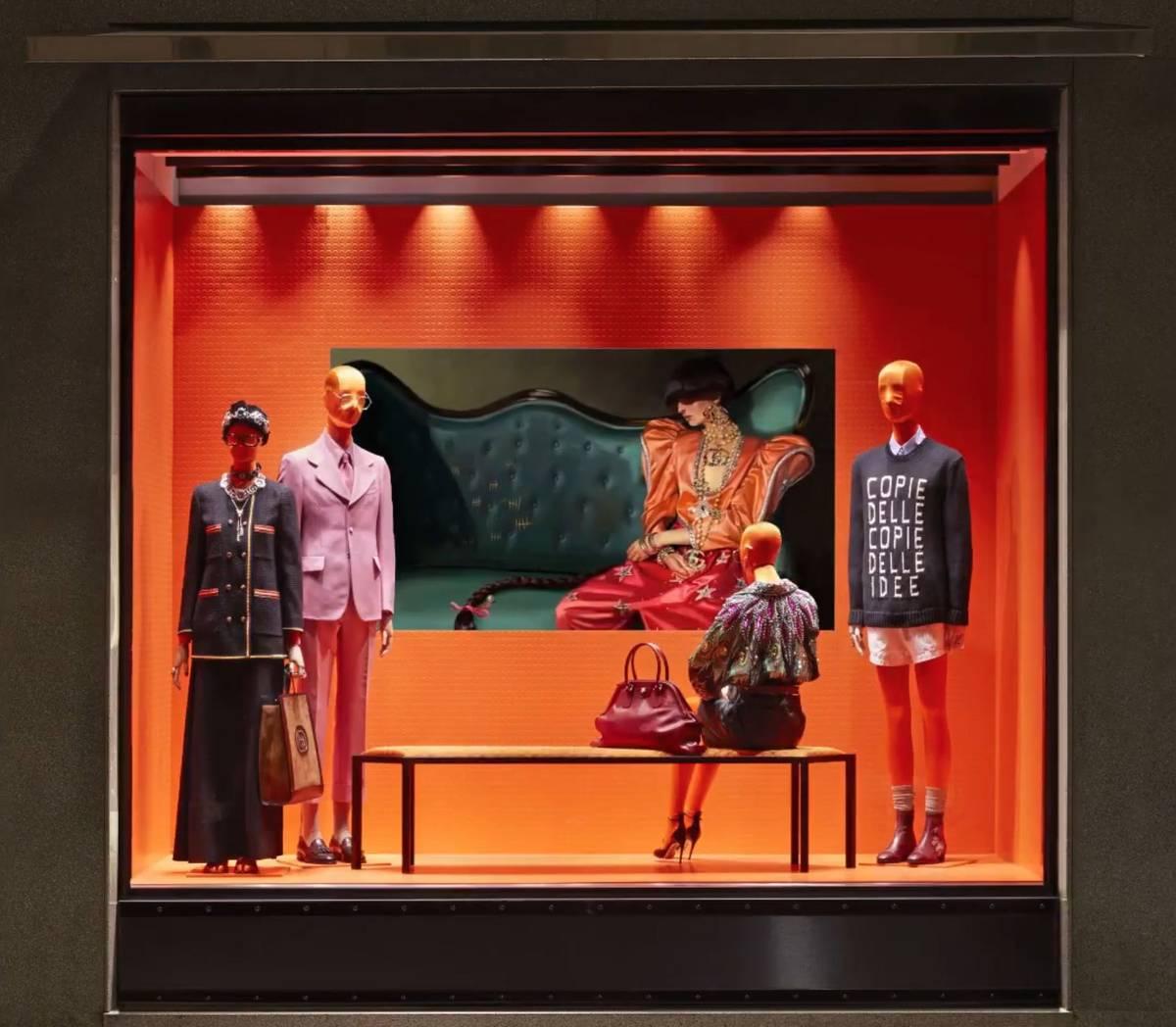 Gucci Window Display In Milan Senatus
