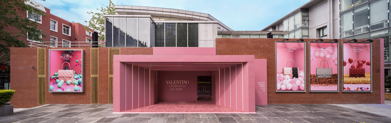 Valentino Opens 'Candystud Factory' Pop-Up Store in Beijing