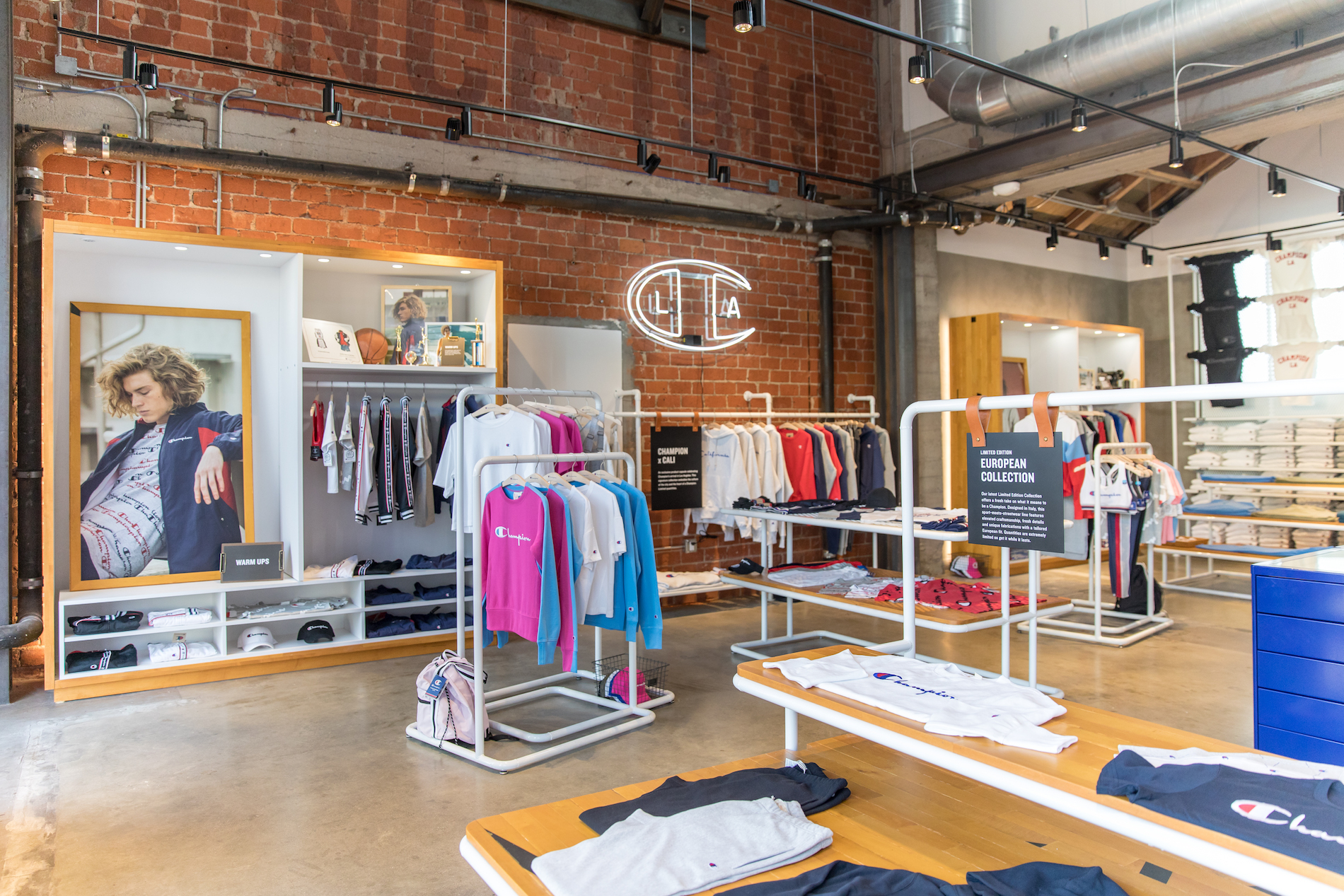 Champion athleticwear opens first flagship store in for Recycled building materials los angeles