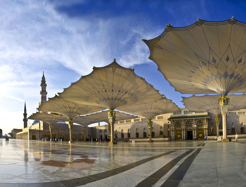 The Giant Umbrellas That Protect Pilgrims At The Medina