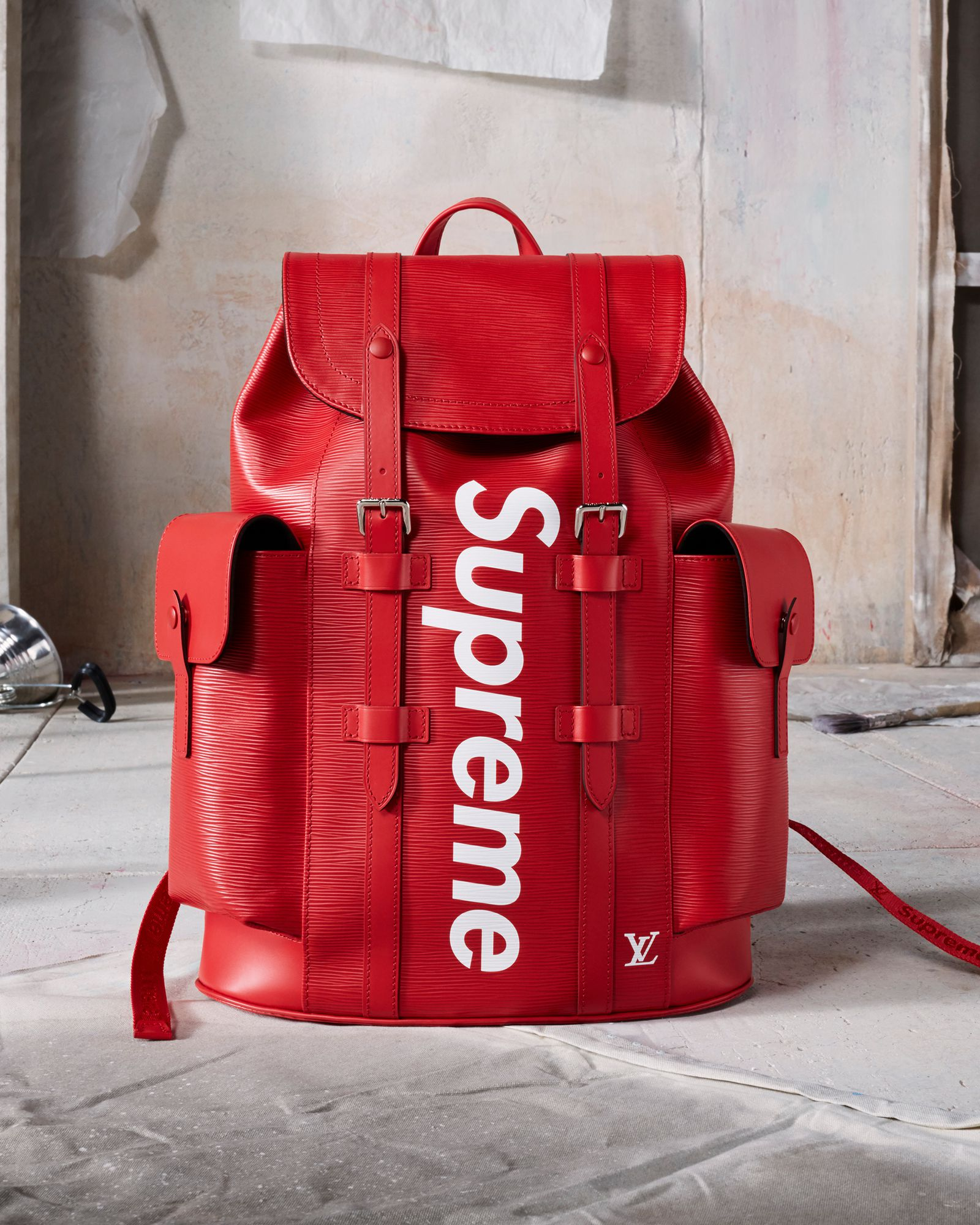 Louis Vuitton X Supreme Collection In Singapore On 14 July