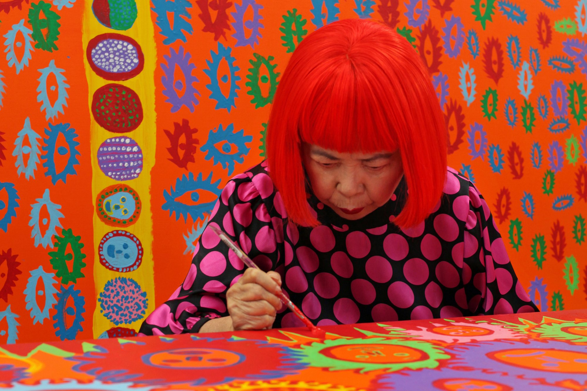 Yayoi kusama life is the heart of a rainbow exhibition at the national gallery of singapore