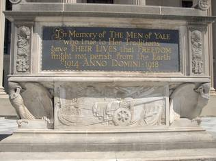 A cenotaph in Yale University's Beinecke Plaza honours the Men of Yale who died in battle