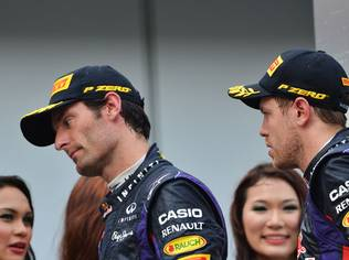 The Red Bull drivers were told to hold station, with Webber ahead, after their final pit stops but Vettel ignored the call and overtook the Australian to win