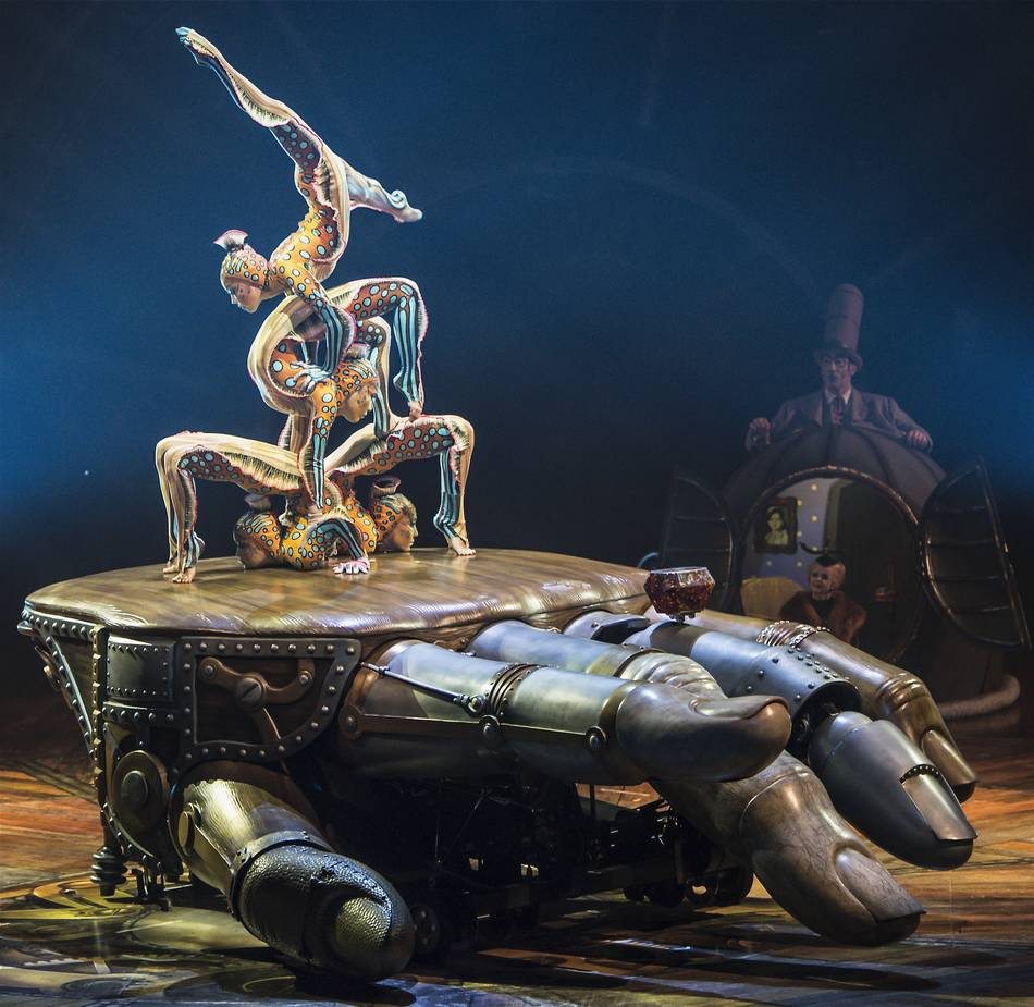 Kurios by Cirque du Soleil - Acro net training - YouTube