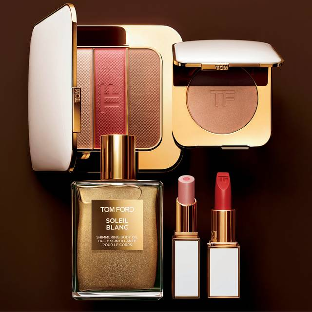 The new make-up collection includes bronzers, highlighters, and skincare as well as a new Private Blend fragrance