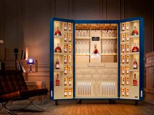 The Martell Trunk is equipped with ample space for the enhanced sensory components of cognac tasting