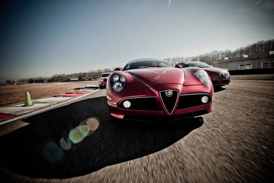To complete the experience, drivers are exposed to a wide variety of Alfa Romeo's to choose from