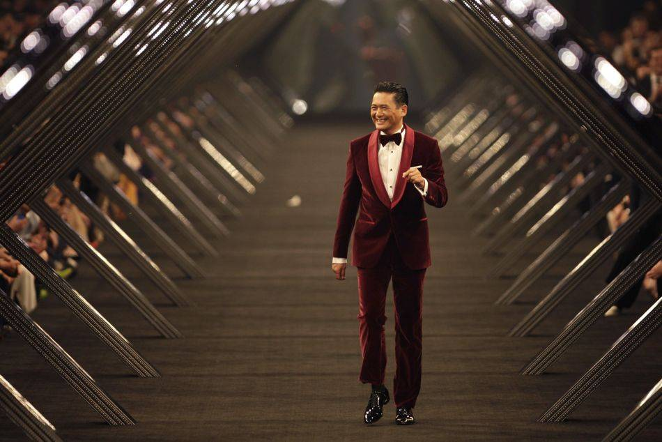 The Hugo Boss fashion show reached its climax with renowned actor Chow Yun-Fat's stroll down the catwalk