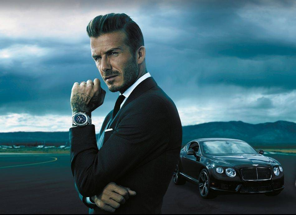 Anthony Mandler photographs David Beckham for the campaign featuring the 10th anniversary special collection of Breitling for Bentley watches.