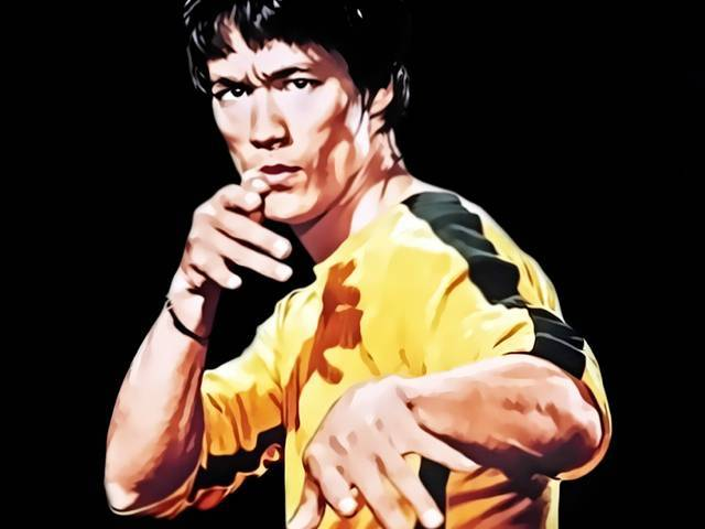 "Bruce Lee in Game of Death | Source: <a href=""http://donvito62.deviantart.com/art/Bruce-Lee-146467700"">DeviantArt/donvito62</a>"
