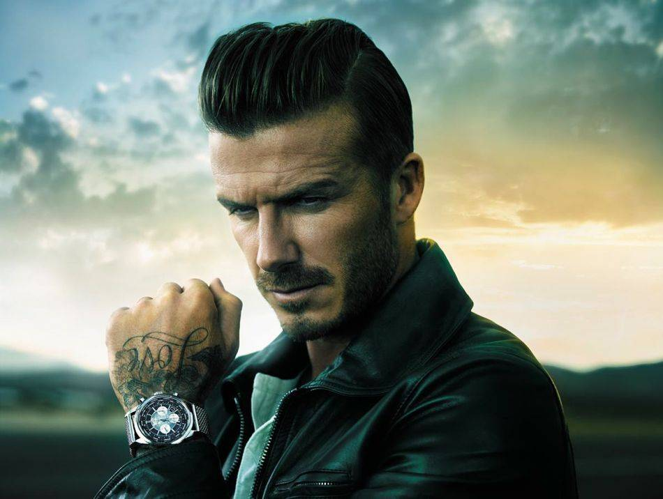 Breitling has chosen David Beckham as the face of its Transocean Chronograph Unitime Worldtimer watch