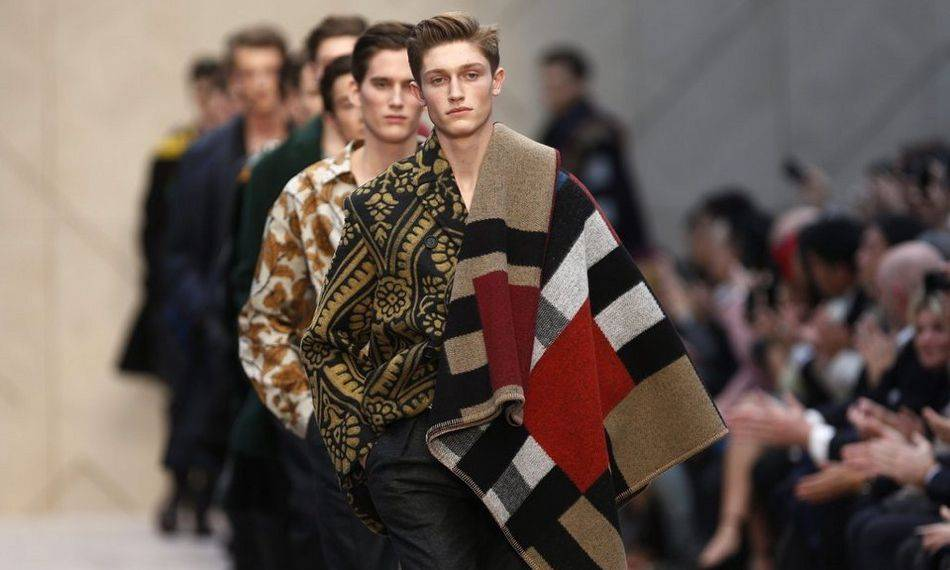Christopher Bailey's latest collection inspired by artists Ben Nicholson, Lucian Freud and Duncan Grant, celebrates the British capital in arty dandy style