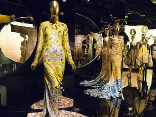 With 150 dresses, gowns, costumes and accessories from 40 designers on display, the showcase is one of the biggest exhibitions undertaken by the museum