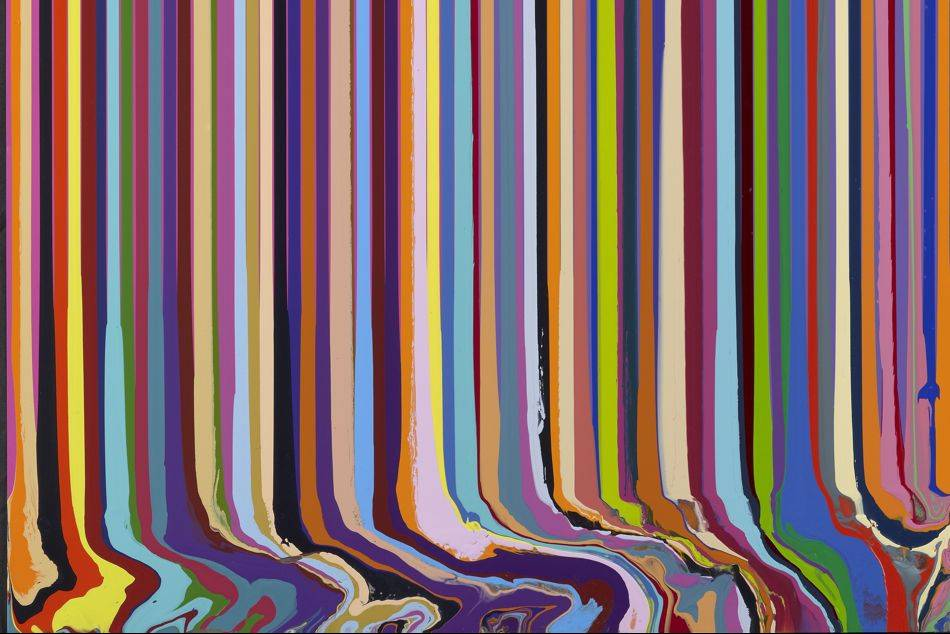 Artwork Using Lines : Ian davenport between the lines at art plural gallery