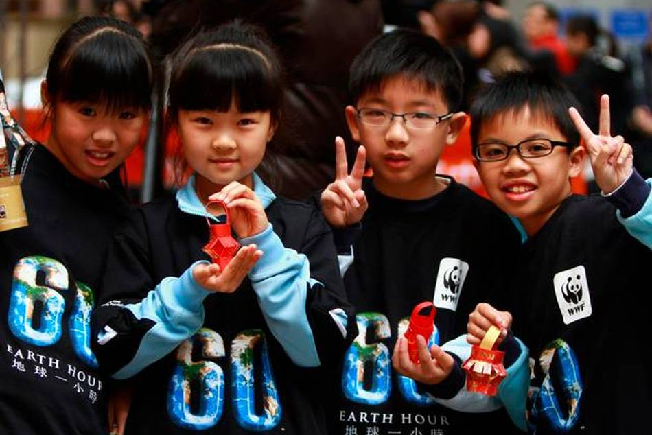 "Children At Earth Hour Launch Hong Kong | Source: <a href=""http://www.flickr.com/photos/earthhour_global/4443721090/"">Flickr/earthhour_global</a>"