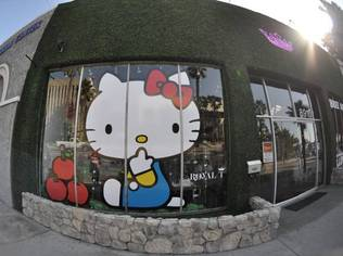 "The exhibition Hello Kitty ran from October 23 to November 15 at Royal/T in Culver City, CA  | Credit: <a href=""http://www.flickr.com/photos/bokehbunny/4160108508/"">flickr/bokehbunny</a>"