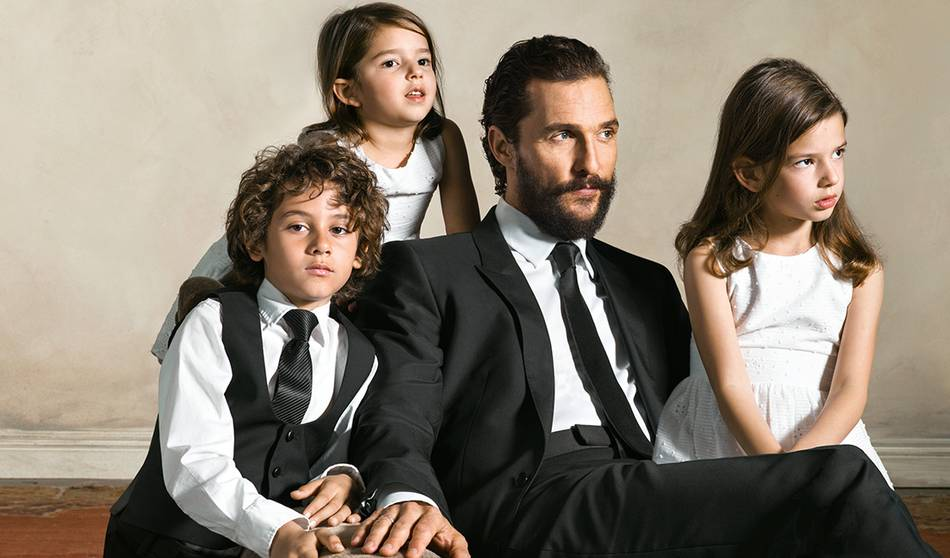 Shot by renowned photographer Brigitte Lacombe, Matthew McConaughey brings to life the campaign celebrating the joy of family life