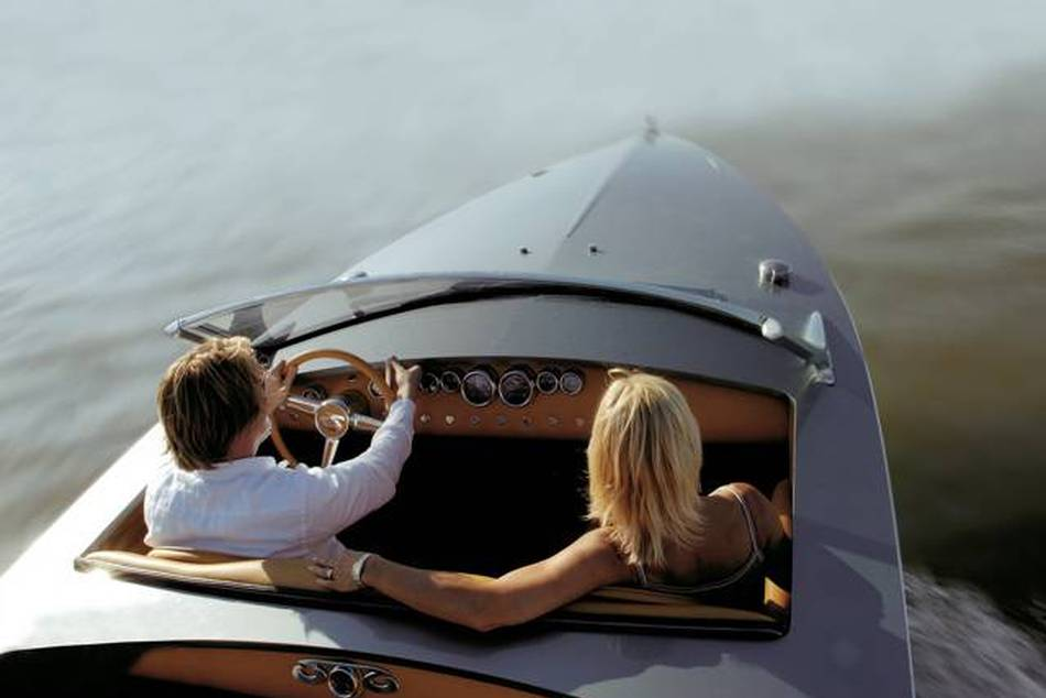 The Silvestris Sports Cabriolet speedboat is powered by an 8.1-litre V8 engine