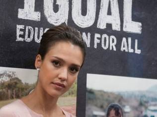 US Honorary Co-Chair of 1Goal, Jessica Alba