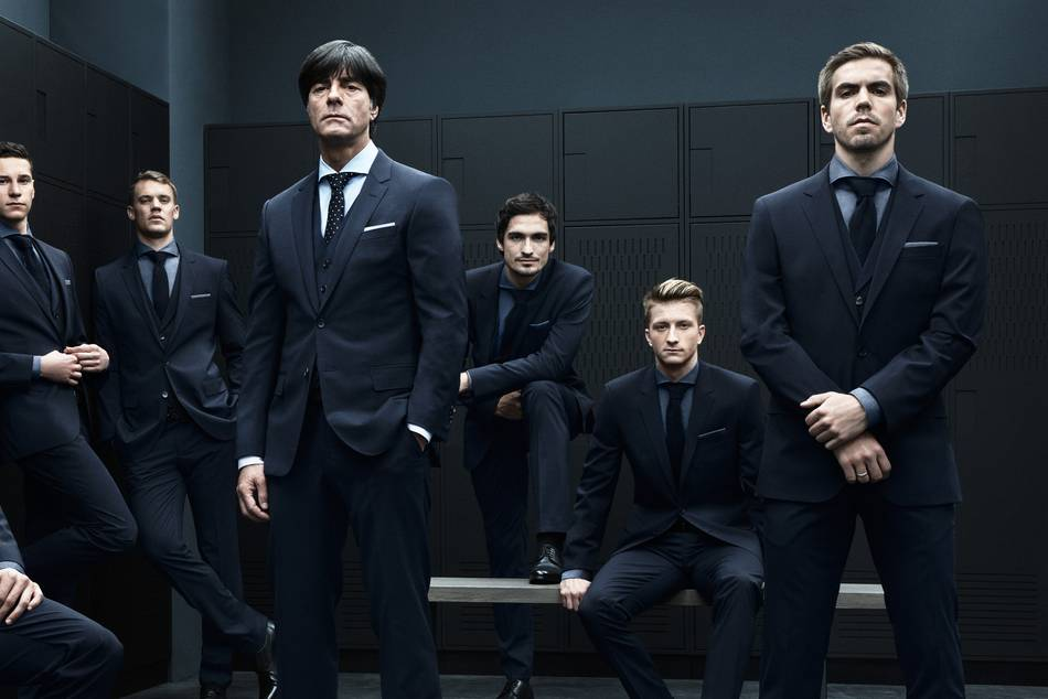 The Mannschaft are heading to Brazil in style, dressed in Hugo Boss from casual wear to BOSS Made to Measure for formal wear
