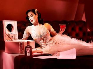 Dita Von Teese's Cointreau Coffret conjures up images of a sophisticated, Parisian boudoir