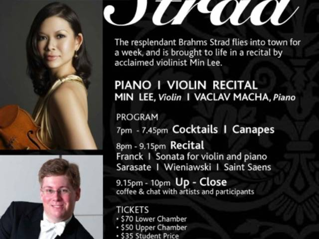Min Lee will bring classical music to life with the Brahms Strad