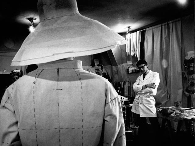 Enter the world of Yves Saint Laurent through original pictures capturing his creative work, anxiety and happiness.